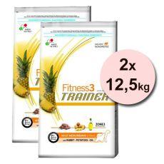 Trainer Fitness3 Adult MEDIUM MAXI, nyúl burgonyával - 2x12,5 kg