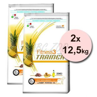 Trainer Fitness3 Adult MEDIUM MAXI, nyúl burgonyával - 2x12,5 kg