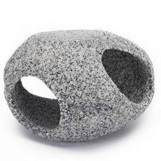 Dekoráció - Kő menedék, gránit, 10,2 cm