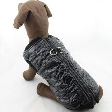 Kutyamellény - fényes fekete, XXL