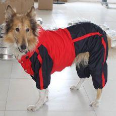 Kutyaoverall,  piros - fekete, L-XS