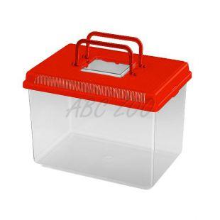 Műanyag hordozó Ferplast GEO LARGE - piros, 6L