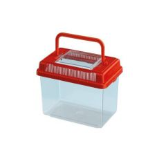 Műanyag hordozó Ferplast GEO MEDIUM - piros, 2,5L