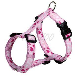 Kutyahám mintával, rózsaszín M-L, 50-75cm