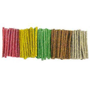 Rágópálcika kutyáknak marhabőrből, szines - 100 db