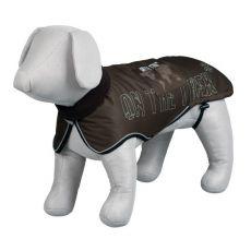 Kutyakabát fényvisszaverő elemekkel, barna - L / 62-75 cm