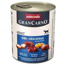 GranCarno Fleisch Adult konzerv füstölt angolna+burgonya - 800g