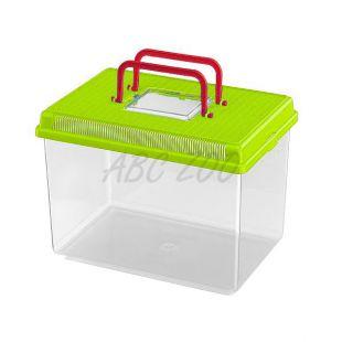 Műanyag hordozó Ferplast GEO LARGE - zöld, 6L