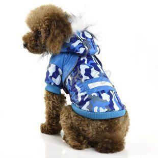 Dzseki kutyáknak, kék terepszínű - XL