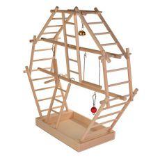 Játék papagájoknak - fa mászóka, 44x44x16cm