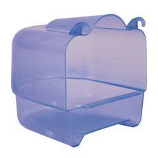 Madárfürdető - felakasztható, kék 15x16x17cm