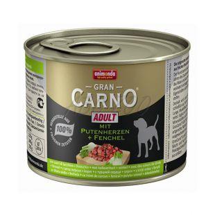 GranCarno Adult konzerv pulykaszív és édeskömény - 200g