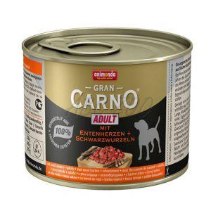 GranCarno Adult konzerv kacsaszív és fekete gyökér  - 200g