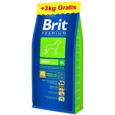 Brit Premium Adult XL 15 kg + 3 kg INGYEN