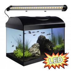 Akvárium STARTUP 40 LED Extra 2x4,3W - EGYENES - FEKETE