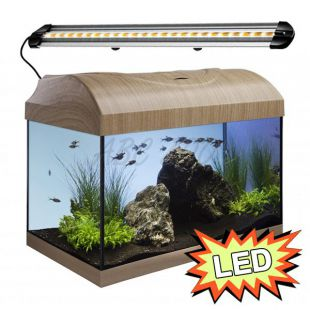 Akvárium STARTUP 40 LED Extra 2x4,3W - EGYENES - BÜKK