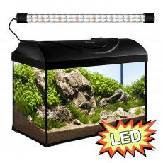 Akvárium STARTUP 50 LED EXPERT 10W - EGYENES - FEKETE