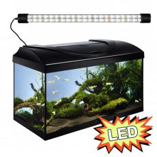 Akvárium STARTUP 60 LED Expert 10W - EGYENES - FEKETE