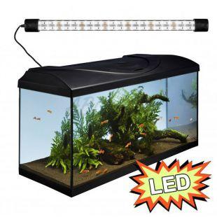 Akvárium STARTUP 80 LED Expert 17W - EGYENES - FEKETE