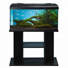 LED Akvárium komplett DIVERSA 112l - ovális + BUDGET fekete állvány