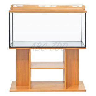 LED Akvárium komplett DIVERSA 112l - ovális + BUDGET bükk állvány