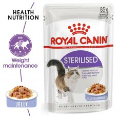 Royal Canin STERILISED in Jelly 85g - zselé alutasakban