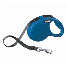 Flexi póráz New Classic XS 12kg-ig, 3m szalag - kék