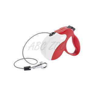 Póráz Amigo Mini 12kg-ig - 3m zsinór, piros fehér
