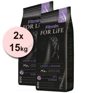 Fitmin FOR LIFE Light & Senior 2x15 kg + INGYENES SZÁLLÍTÁS