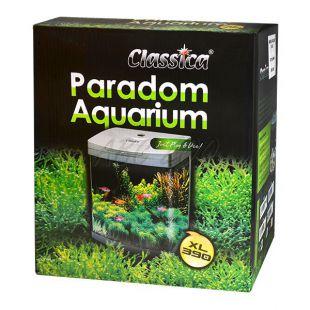 Akvárium CLASSICA PARADOM XL390 40L - ezüst, ovális