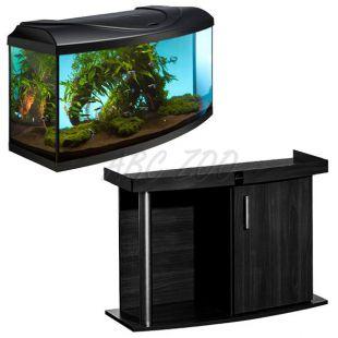 Akvárium komplett DIVERSA 112l - íves + COMFORT fekete állvány
