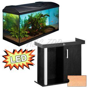 Akvárium STARTUP 80 LED Extra 2x10,1W - egyenes + COMFORT bükk állvány