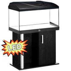 Akvárium STARTUP 80 LED Expert 17W - egyenes + COMFORT fekete állvány