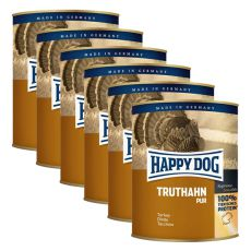 Happy Dog Pur - Truthahn/pulyka, 6 x 800g, 5+1 GRÁTISZ