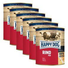 Happy Dog Pur - Rind/marhahús, 6 x 800g, 5+1 GRÁTISZ