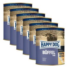Happy Dog Pur - Büffel/bivalyhús, 6 x 800g,  5+1 GRÁTISZ