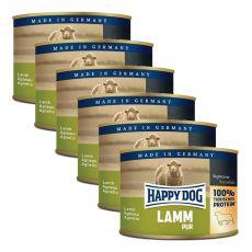 Happy Dog Pur - Lamm/bárányhús, 6 x 200g, 5+1 GRÁTISZ