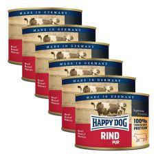 Happy Dog Pur - Rind/marhahús, 6 x 200g, 5+1 GRÁTISZ