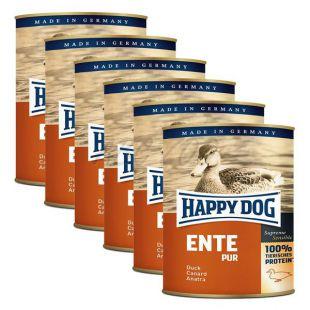 Happy Dog Pur - Ente/kacsa, 6 x  800g, 5+1 GRÁTISZ