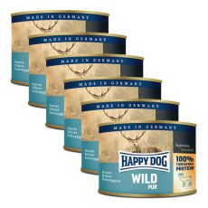 Happy Dog Pur - Wild/vadhús, 6 x  200g, 5+1 GRÁTISZ