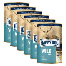 Happy Dog Pur - Wild/vadhús, 6 x 400g, 5+1 GRÁTISZ