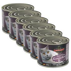 Nyúlhúsos konzerv macskának Leonardo - 6 x 200 g