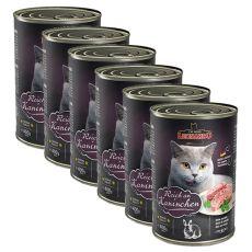 Konzerv macska számára Leonardo - Nyúl 6 x 400 g