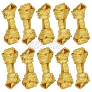 Csomózott rágócsont, marha és csirkehússal - 18,5 cm - 10db