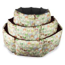 Kutyafekhely - bész színű, nyolcszögletű, bagoly mintával 75cm