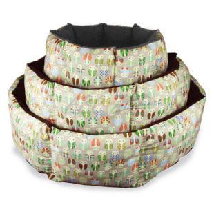 Kutyafekhely - bész színű, nyolcszögletű, bagoly mintával 100cm