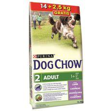 PURINA DOG CHOW ADULT Lamb 14 kg + 2,5 kg INGYEN