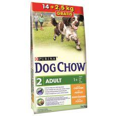 PURINA DOG CHOW ADULT Chicken 14 kg + 2,5 kg INGYEN