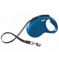 Flexi New Classic póráz S  15 kg-ig, 5m szalaggal - kék