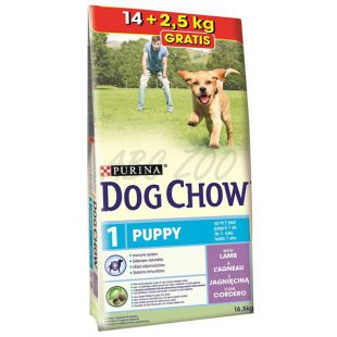 PURINA DOG CHOW PUPPY Lamb & Rice 14kg + 2,5 kg INGYEN